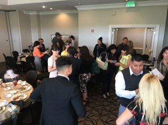 Networking prior to luncheon