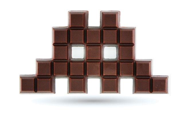Space Invader Chocolat