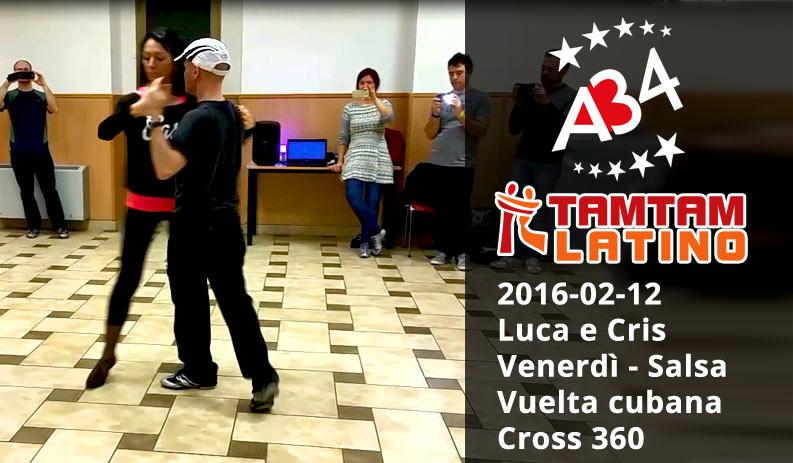 2016-02-12 Luca e Cris, Salsa, Vuelta + cross 360 (video)
