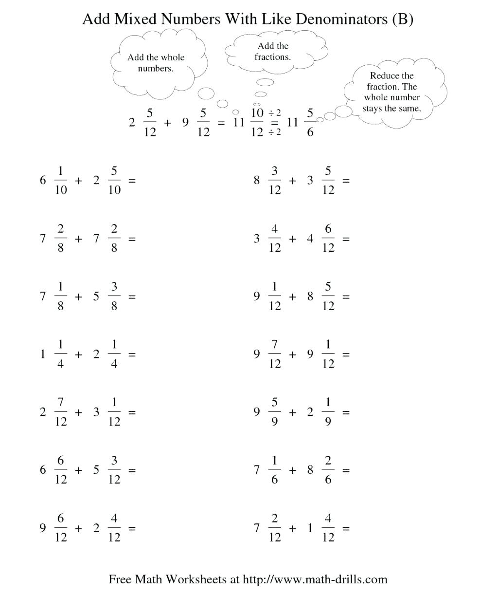 Dividing Fractions With Unlike Denominators Worksheets