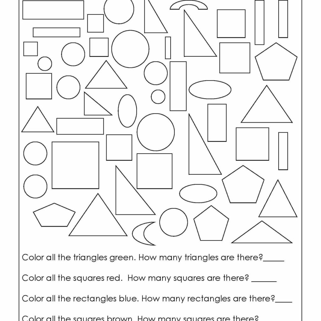 Cutting Practice Worksheets For Kindergarten