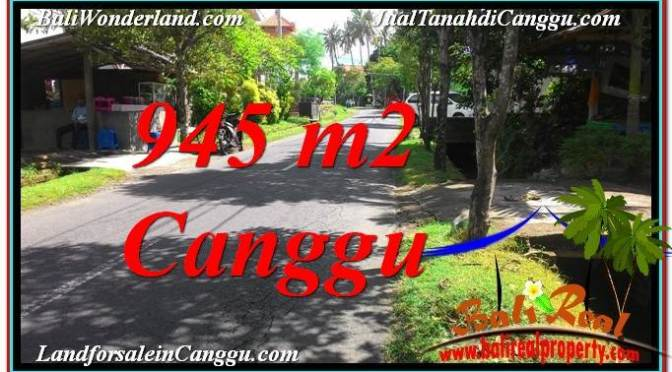 TANAH DIJUAL di CANGGU 945 m2 di Canggu Pererenan