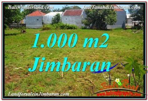 TANAH di JIMBARAN JUAL 1,000 m2  Lingkungan Villa