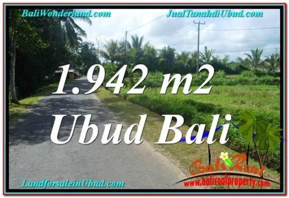 JUAL TANAH MURAH di UBUD BALI 1,942 m2  View Sawah