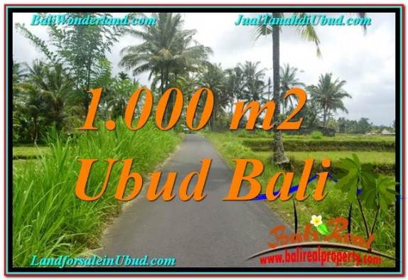 JUAL TANAH di UBUD 1,000 m2 View Sawah, Link. Villa