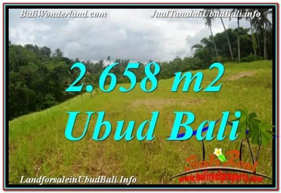 TANAH MURAH di UBUD DIJUAL 2,658 m2 di Sentral / Ubud Center TJUB641