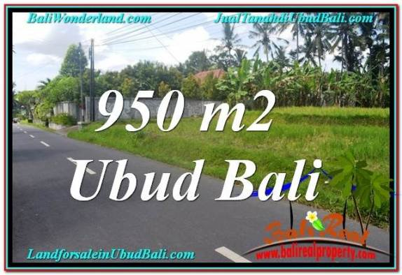 DIJUAL TANAH di UBUD BALI 950 m2 di Sentral / Ubud Center