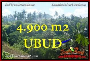 TANAH di UBUD BALI DIJUAL 4,900 m2 View Tebing dan sungai