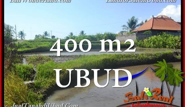 JUAL TANAH MURAH di UBUD 400 m2 View Sawah link Villa