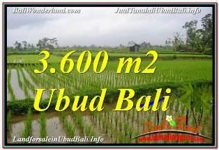 JUAL TANAH di UBUD 3,600 m2  VIEW SAWAH DAN VILLA
