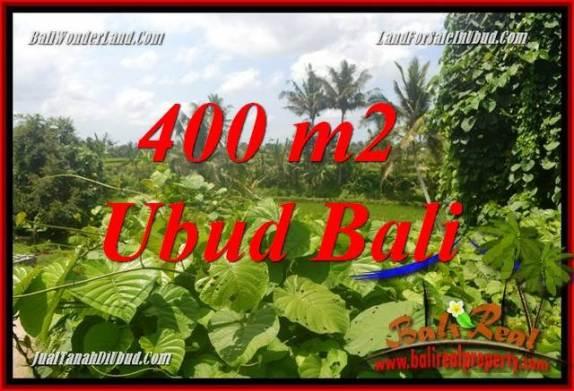 JUAL Tanah di Ubud Bali 400 m2  View sungai dan sawah
