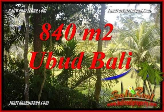 Tanah Dijual di Ubud Bali 840 m2  View sungai dan sawah