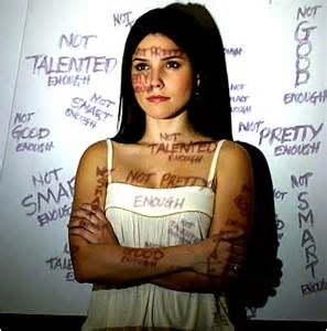 What kind of self-talk do you experience everyday? Negative self-talk can build up into self-hate.