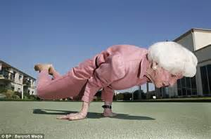 yoga done by older woman
