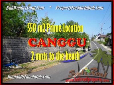 TANAH di CANGGU DIJUAL MURAH 550 m2 di Canggu Batu Bolong