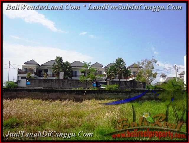 JUAL TANAH di CANGGU BALI 831 m2  lingkungan villa