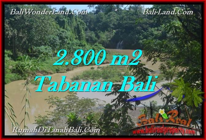TANAH MURAH JUAL di TABANAN BALI 28 Are view sungai dan kebun