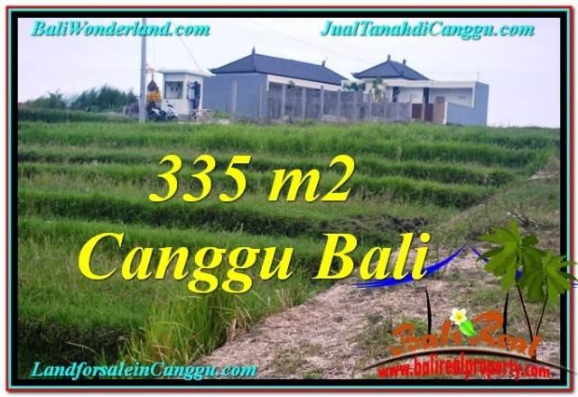 JUAL MURAH TANAH di CANGGU 3.35 Are View sawah, sungai, lingkungan villa