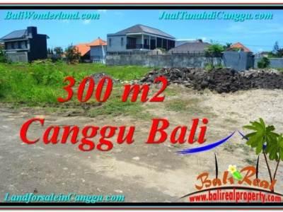 TANAH di CANGGU JUAL 300 m2 Lingkungan villa & Hotel