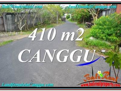 JUAL TANAH MURAH di CANGGU BALI 410 m2 Lingkungan Villa