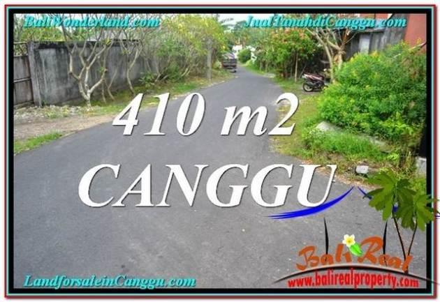 JUAL TANAH di CANGGU 410 m2 di Canggu Pererenan