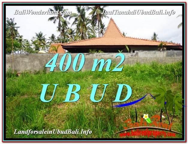JUAL MURAH TANAH di UBUD BALI 400 m2  View Kebun Link Villa