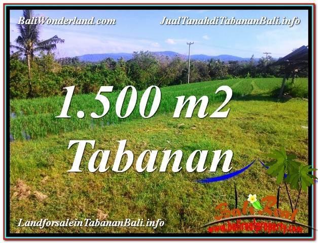 TANAH MURAH  di TABANAN BALI DIJUAL 1,500 m2  View sawah