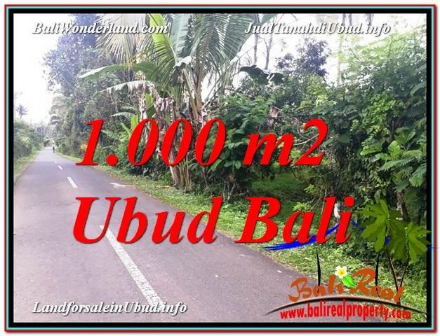 JUAL TANAH di UBUD BALI 1,000 m2  View Kebun dan Pangkung