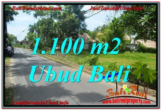 TANAH MURAH di UBUD BALI 1,100 m2  View Sawah, Sungai Kecil, Link. Villa