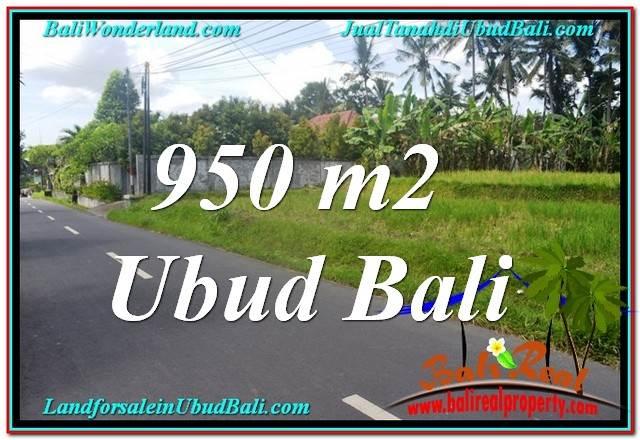 JUAL TANAH MURAH di UBUD BALI 950 m2  View Sawah dan Sungai Kecil, Link. Villa