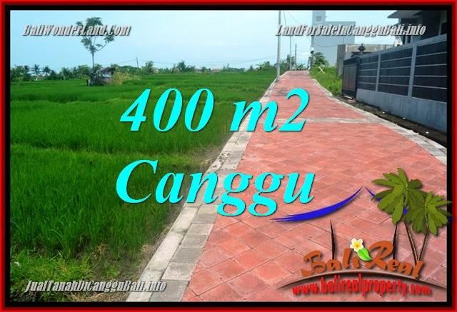 TANAH di CANGGU BALI DIJUAL 400 m2 View sawah, lingkungan villa