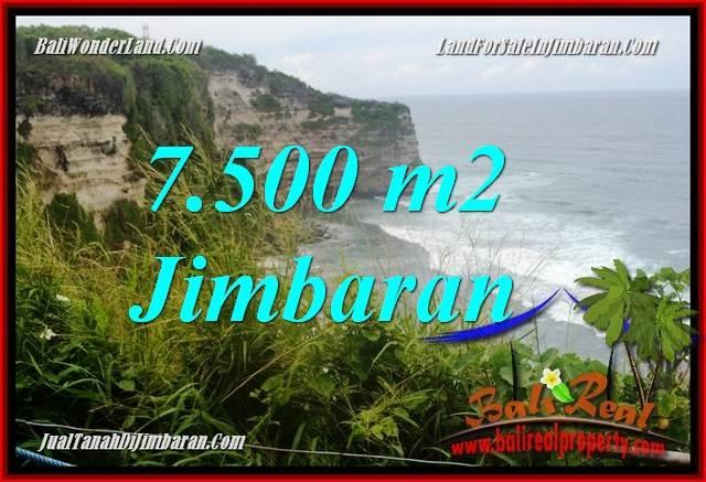 TANAH MURAH di JIMBARAN BALI 7,500 m2  Tebing tepi Pantai