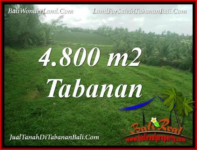 JUAL TANAH MURAH di TABANAN 4,800 m2 VIEW LAUT DAN SAWAH