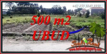 Tanah Dijual di Ubud Bali 500 m2 di Sentral Ubud