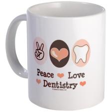 peace_love_dentistry_dentist_mug