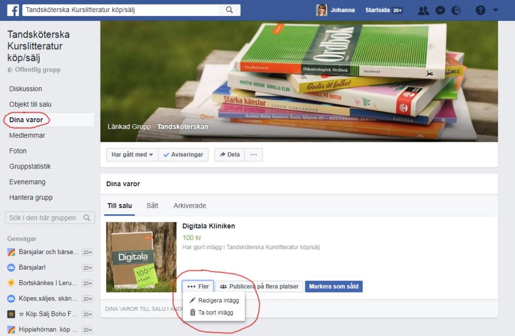 Ta bort annons på Facebook