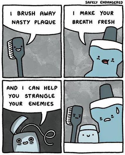 Strangle with floss