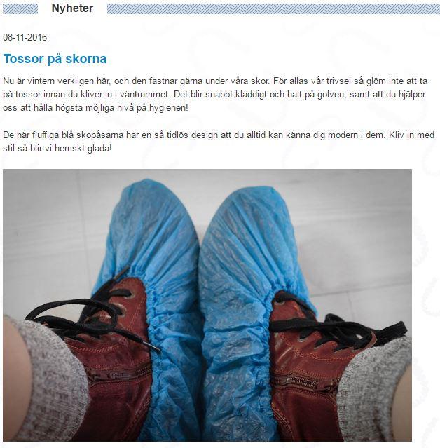 Tossor på skorna