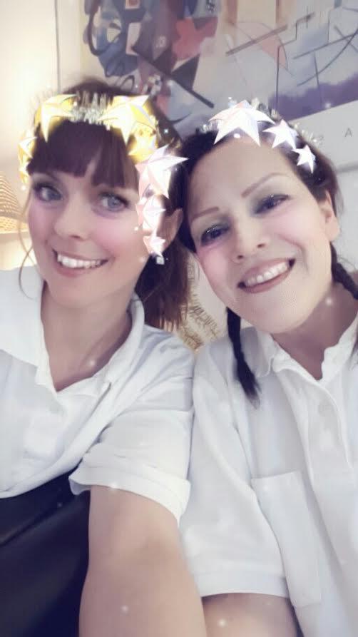 Tandsköterskor tärnor på Lucia