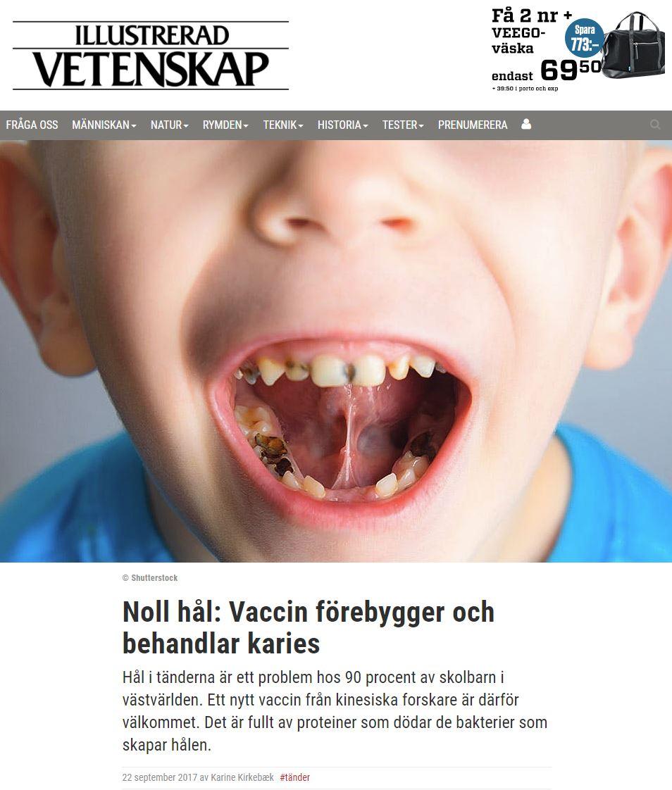 Vaccin mot karies kommer