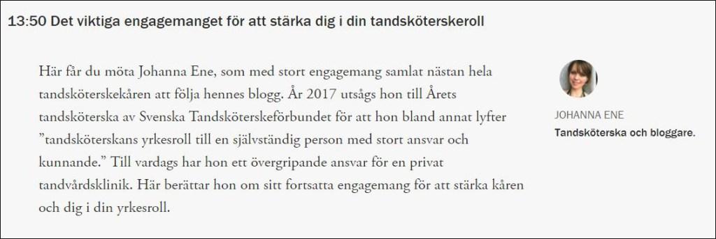Gothia Fortbildning Tandsköterskan i fokus