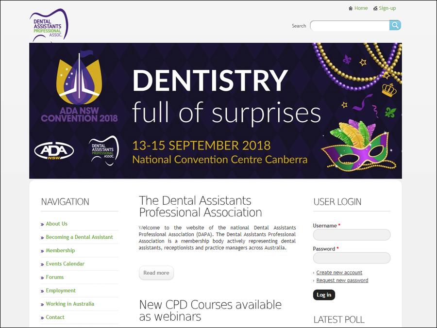 Australia Dental Assistants Association website