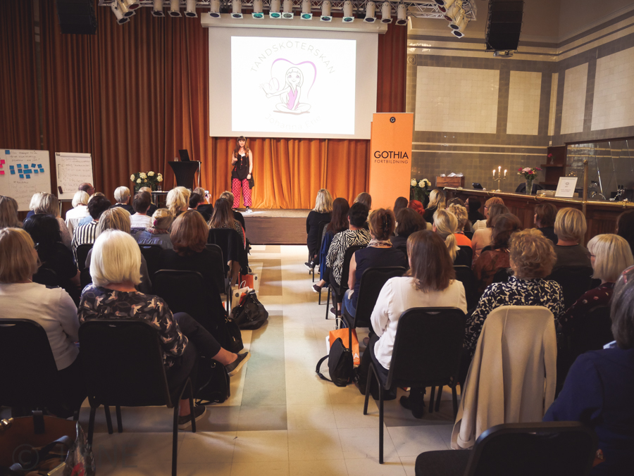 Konferens Tandsköterskan i Fokus - Gothia Fortbildning. Stockholm 2018.
