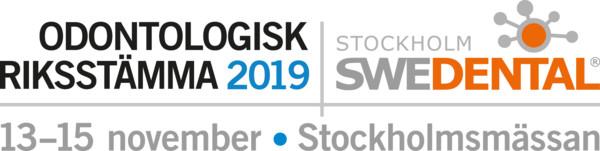 Odontologisk Riksstämma och Swedental 2019. Logo.