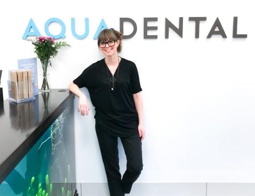 Tandsköterska och receptionist Johanna Ene på Aqua Dental, Olskroken.