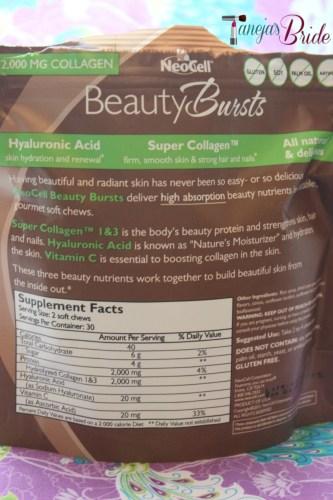 Neocellbeautyburstsnutritionfacts