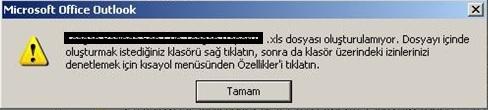 Microsoft Office Outlook Hata