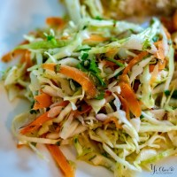Coleslaw With Lime and Sesame Sauce