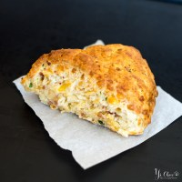 Bacon Chive Gouda Scones