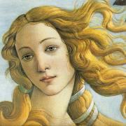 Detall de l'obra Venus de Boticelli